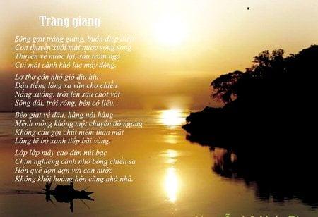 Tổng ôn kiến thức tác phẩm Tràng Giang của nhà thơ Huy Cận