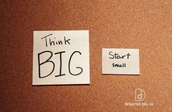 Thành công lớn đến từ những việc làm nhỏ