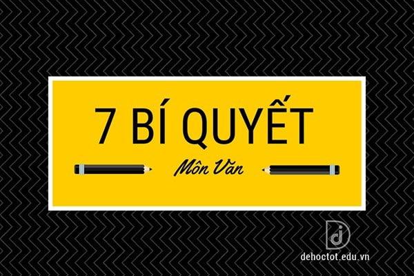 7 bí quyết để học tốt môn Văn