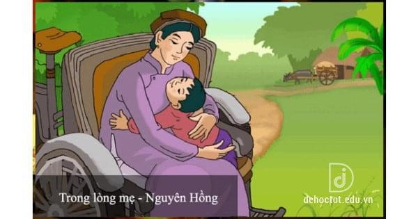 Soạn văn 8 Trong lòng mẹ